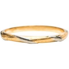 1920 Art Deco F & F Felger Platinum and 18 Karat Yellow Gold Band Ring