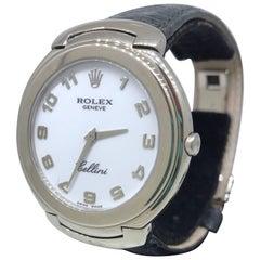 Rolex White Gold Cellini White Dial Quartz Wristwatch Ref 6623/9