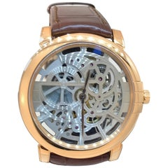 Harry Winston Rose Gold Midnight Brown Automatic Wristwatch