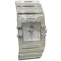 Omega Ladies Stainless Steel Diamond Constellation Squadra Ltd Ed Wristwatch