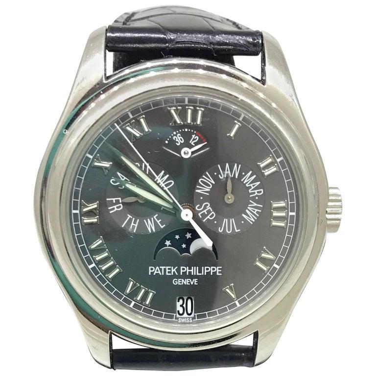 Patek Philippe Platinum Annual Calendar Moonphase Complication Wristwatch