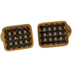 Frederic Sage Black and White Diamond Cufflinks