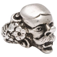 Antique Victorian Character Ring From the Comedia del Arte