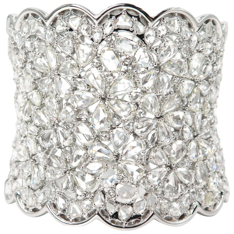 Diamond Wide Cuff Bracelet