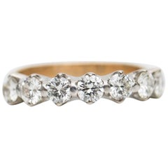 1950s 1.61 Carat Diamond Seven-Stone Wedding Band Ring