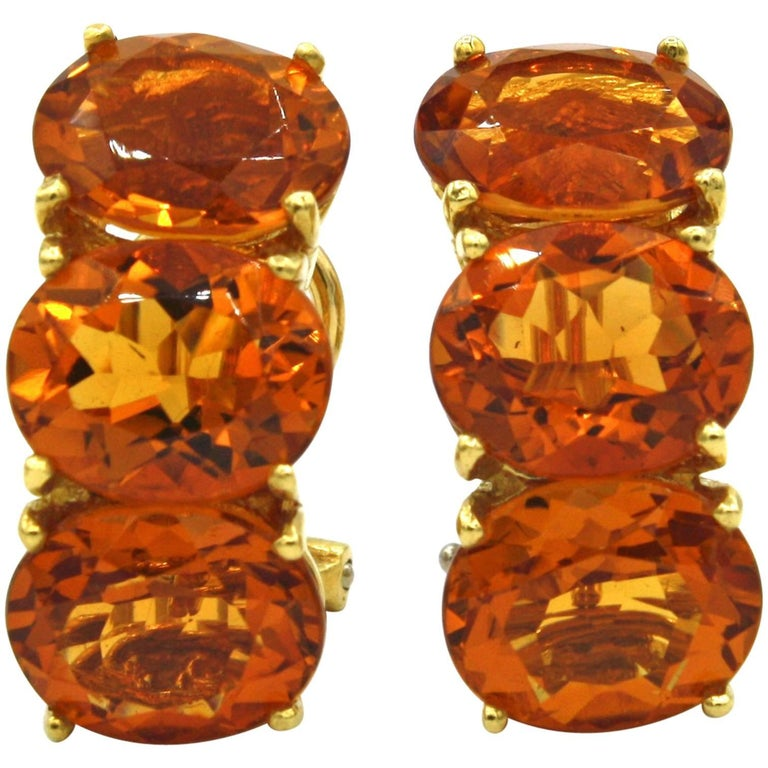 Renato Cipullo Citrine and Gold Earrings