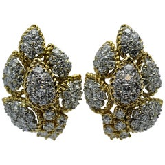 Craig Drake Gold and Diamond Earrings