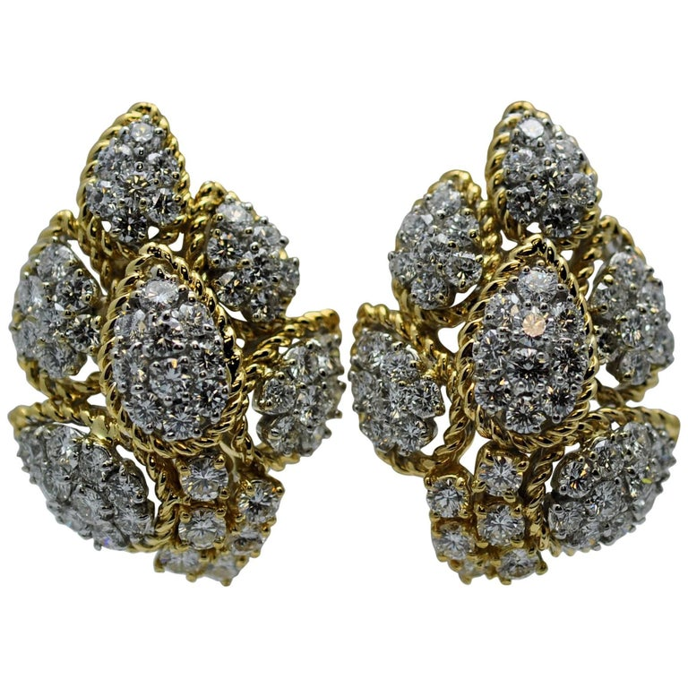 Craig Drake Gold and Diamond Earrings