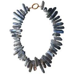Opal Blu Rock Necklace