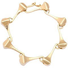 1980s Gucci Nailhead Gold Bracelet
