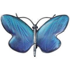 Antique Victorian Butterfly Winged Silver Butterfly Brooch, circa 1900