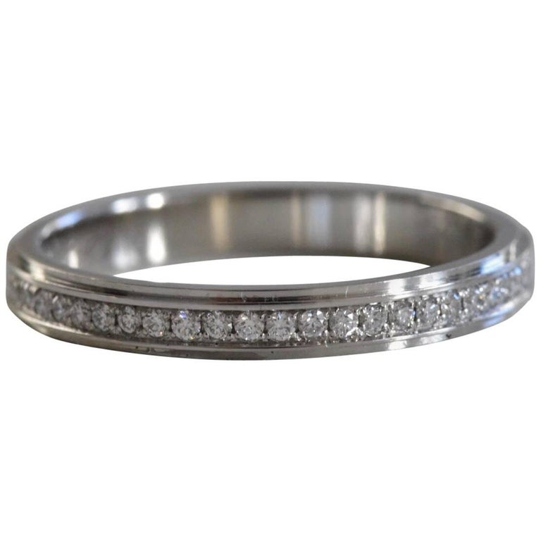 Cartier Infinity Bracelet: Cartier Platinum Full Diamond Eternity Ring At 1stdibs