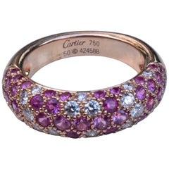 Cartier Etincelle De Cartier Diamond and Pink Sapphire Ring