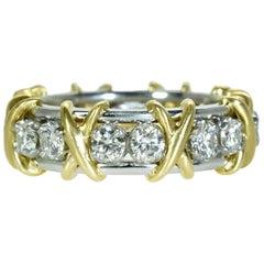 Tiffany & Co. Schlumberger 16 Diamond Gold Ring