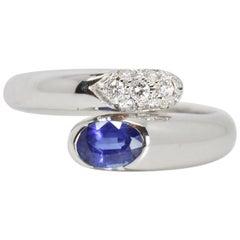 Bulgari Bypass Sapphire and Diamond Ring