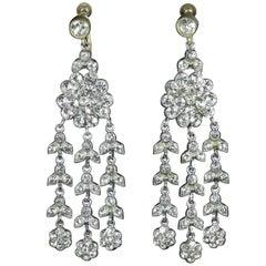 Art Deco Long Paste Earrings