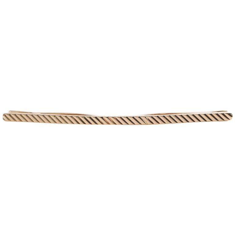 1940s Tiffany & Co. 14 Karat Gold Collar / Tie Clip