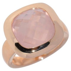 Rose Quartz and Rose Gold 18 Carat Fashion Ring