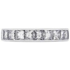 5.90 Carat Princess Cut Diamond Eternity Band