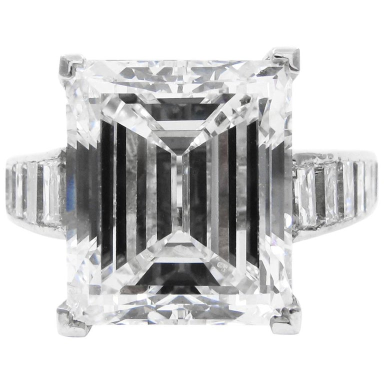 Harry Winston 7.45 Carat GIA Certified F VS1 Emerald Cut Ring