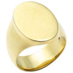 18 Karat Gold Tristram Signet Ring