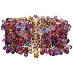 Nicholas Varney Multicolored Sapphire Gold Bracelet