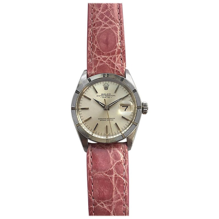 Rolex Stainless Steel Oyster Perpetual Date Vintage Automatic Watch