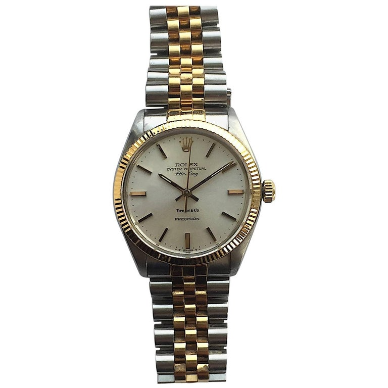 Rolex for Tiffany & Co. Yellow Gold Stainless Steel Air-King Watch, 1980s