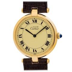 Cartier Vermeil Vendome Tank quartz wristwatch, circa 1990s