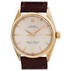 "Rolex yellow gold Oyster Perpetual ""Underline"" Dial self winding wristwatch"