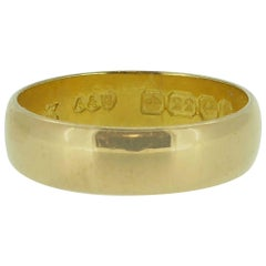 Antique Gold Wedding Ring, Hallmarked Birmingham 1912, George V