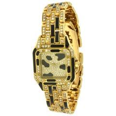 Cartier Panthère de Cartier Yellow Gold, Enamel, Diamond Ladies Quartz Watch