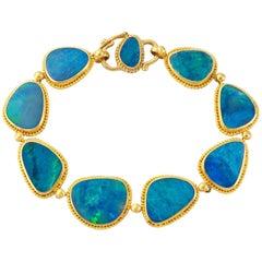 Blue Australian Opal Doublet Bracelet
