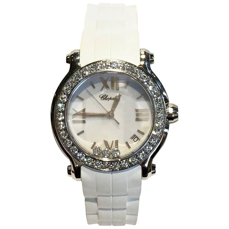 Chopard Ladies Stainless Steel Quartz Happy Sport Wristwatch