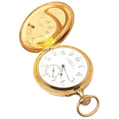 Henry Capt Yellow Gold Chronoautomatic Full Hunter Pocket Watch