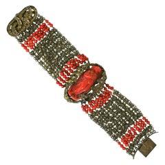 Elaborate Victorian Coral Bracelet