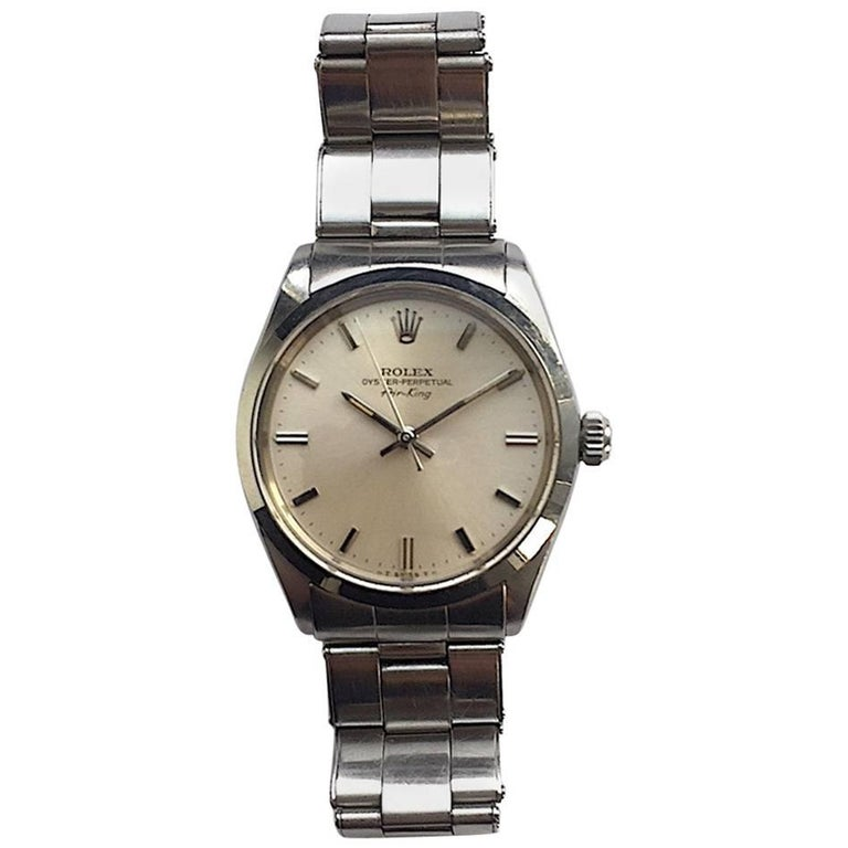 Rolex Stainless Steel Oyster Perpetual Vintage Air-King Wristwatch, 1960s