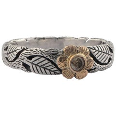 Emma Chapman Daisy Diamond Yellow Gold Silver Flower Ring