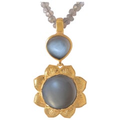 Emma Chapman Black Moonstone Gold Plate Pendant