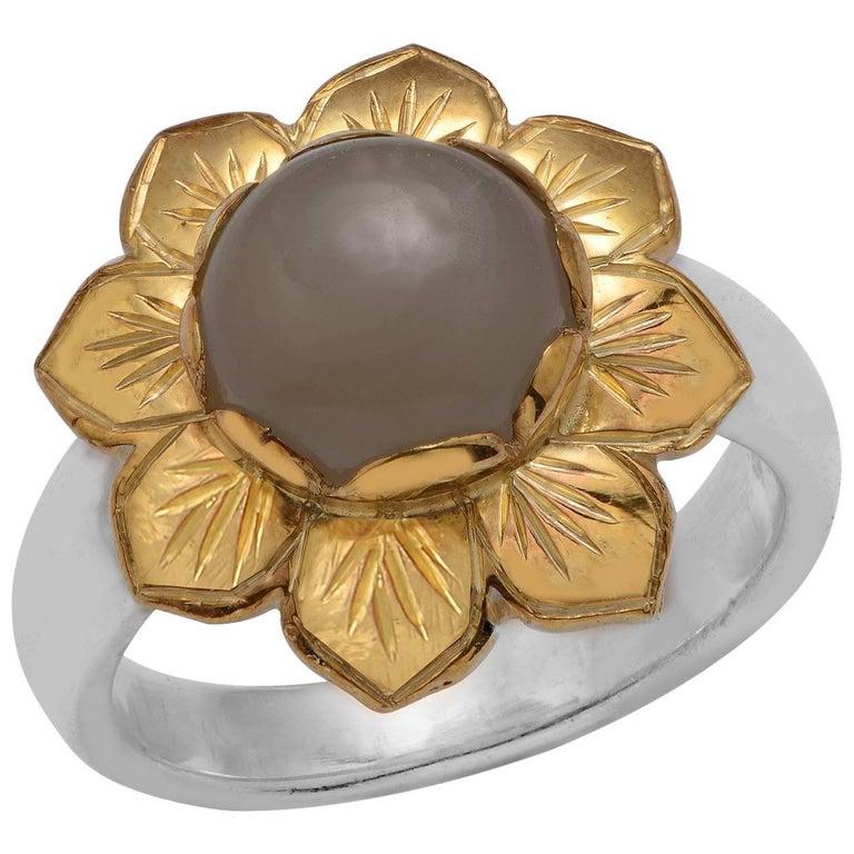 Emma Chapman Black Moonstone Gold Plate Ring