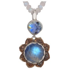 Emma Chapman Rainbow Moonstone Silver Pendant