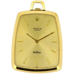 "Rolex ""Cellini"" Vintage 18 Karat Yellow Gold Pocket Watch"