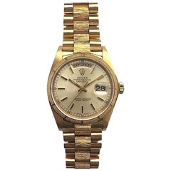 Rolex Yellow Gold Oyster Perpetual Day-Date Bark President Automatic Watch