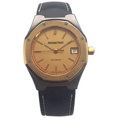 Audemars Piguet Rose Gold and Tantalum Royal Oak Cuir Automatic Watch