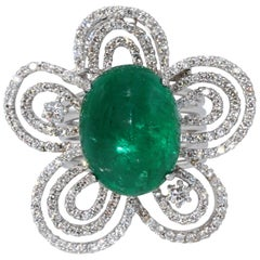 Convertible Emerald Diamond Ring Pendant