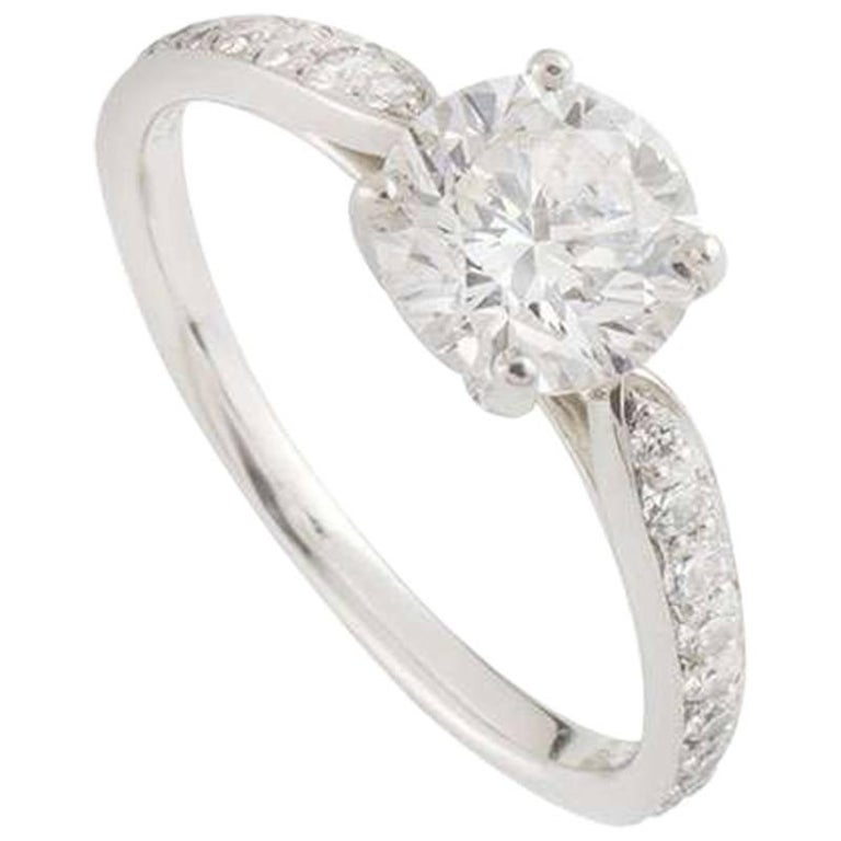 2e1f7be62 Tiffany and Co. Diamond Platinum Harmony Ring 1.05 Carat For Sale at ...