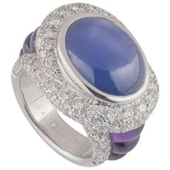 Mauboussin Diamond, Sapphire and Amethyst Ring