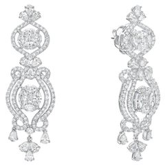 Gilin 18K White Gold Diamond Earrings