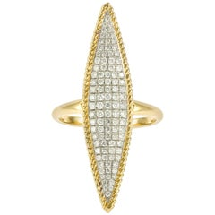 Yvonne Leon's Ring in 18 carats Yellow and White Gold With Diamonds