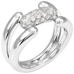 Roberta Collection Ring 18 Karat White Gold and Diamonds